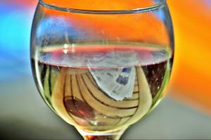 Minőségi kristály boros pohár
