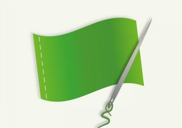 Zászló varrás nagyszerű segítséggel
